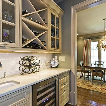 kitchens - Wet bar, butler's pantry wet bar, wet bar ideas, wet bar design, built in wine rack,  Wet Bar/ Butler's Pantry