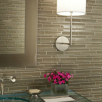 Taupe Glass tiles, Contemporary, bathroom, Mark Williams Design