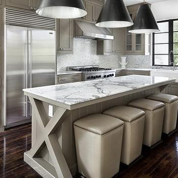 beautiful contemporary kitchen and living area interior design with