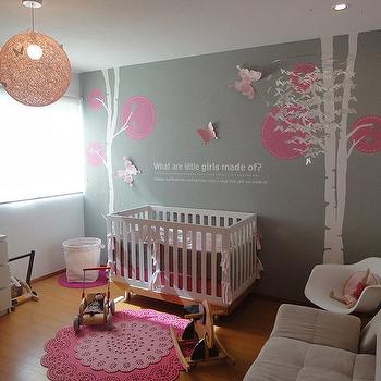 Pink and Gray Nursery - Contemporary - nursery