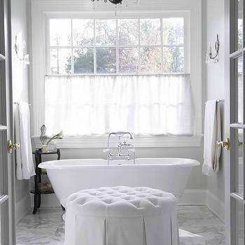 Belle epoque vitreous china two leg single console for Master bathroom ottoman