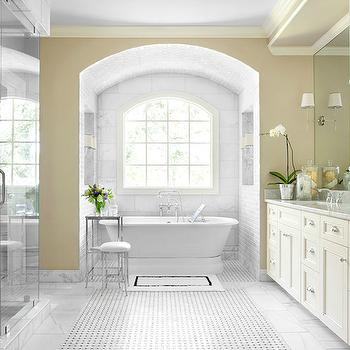 Bathroom Alcove, Transitional, bathroom, Mark Williams Design