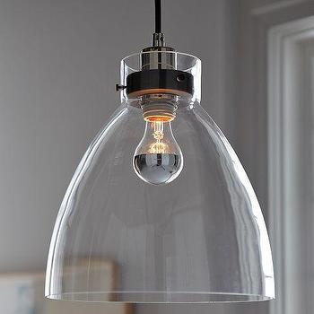 Industrial Pendant �?¢â?¬â?? Glass, west elm
