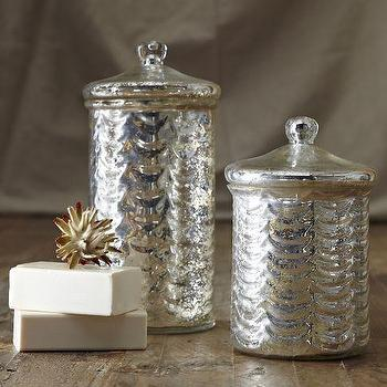 Bath - Mercury Glass Canisters | west elm - mercury, glass, canisters