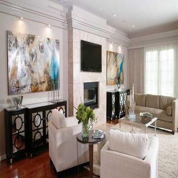 Worlds Away Ava Mirrored Buffet, Transitional, living room