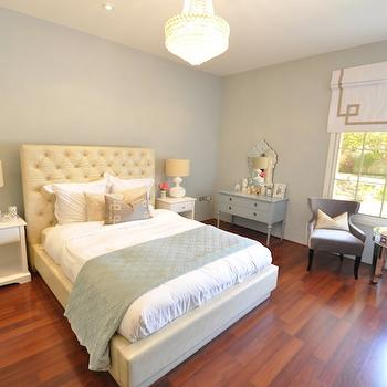 Grey Blue Bedroom Walls, Contemporary, bedroom, Benjamin Moore Arctic Gray, Caitlin Wilson Design