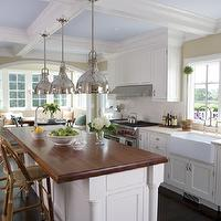 kitchens: east hampton, smith river kitchens, white cabinetry, white kitchens, kitchen island,  White East Hampton Kitchen