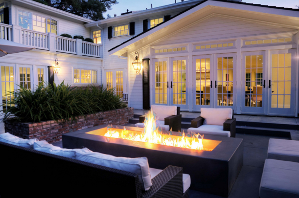 Outdoor Firepit, Contemporary, deck/patio, Kriste Michelini Interiors