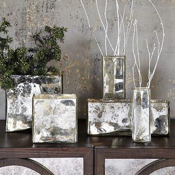 Decor/Accessories - Mercury Glass Cityscape Vases | west elm - mercury glass, city scape, vases
