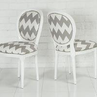Seating - www.roomservicestore.com - Chevron Print Louis Dining chair - chevron, print, louis, chair