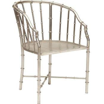 Seating - Bamboo Arm Chair - nickel, faux bamboo, chair