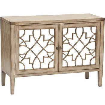 Storage Furniture - Sanctuary Two Door Mirrored Console - mirrored, sanctuary, console, cabinet