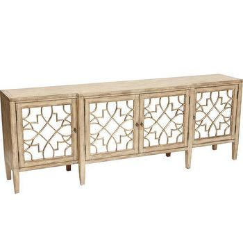 Storage Furniture - Sanctuary 4 Door Mirrored Console - sanctuary, mirrored, console, cabinet