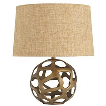 Lighting - Ennis Antique Brass Sphere Lamp - ennis, antique brass, lamp