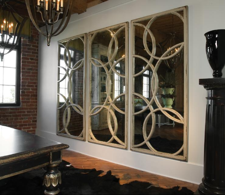 Circles mirrors contemporary dining room for Dining room mirrors