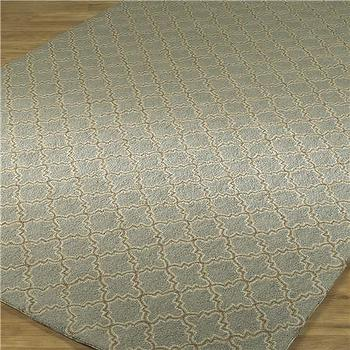 Rugs - Quatrefoil Hooked Rug 3 Colors - Shades of Light - quatrefoil, moorish tiles, rug