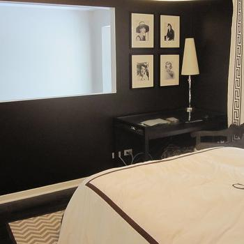 Black and White Bedroom, Contemporary, bedroom, HGTV