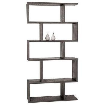 Storage Furniture - Arteriors Carmine Gray Limed Oak Bookshelf - Arteriors-5198 | Candelabra, Inc. - arteriors, bookcase
