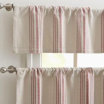French Stripe Cafe Curtain, Pottery Barn