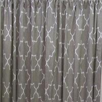 Window Treatments - IKAT linen color and white /TWO Lined Drapery by thecurtaincall - gray, linen, ikat, curtains, window panels