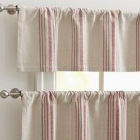 Window Treatments - French Stripe Cafe Curtain | Pottery Barn - French, stripe, cafe, curtains