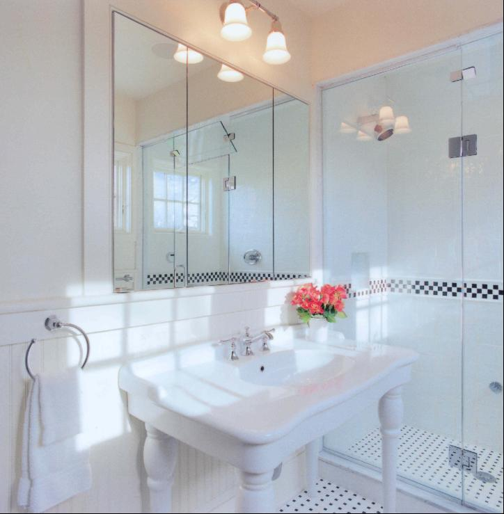 Parisian Pedestal Sink Cottage Bathroom My Home Ideas