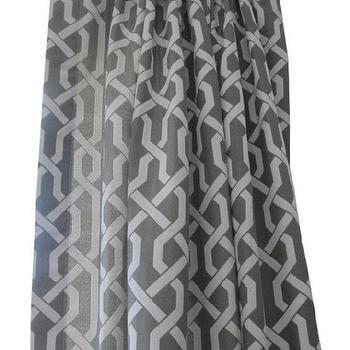 Window Treatments - New ArrivalPair of Rod Top Designer Drapery Panels by nenavon - gray, trellis, drapes