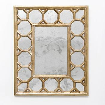 Worlds Away Geoffrey G Rectangular Gold Leafed Mirror, Worlds-away-geoffrey-g, Candelabra, Inc.