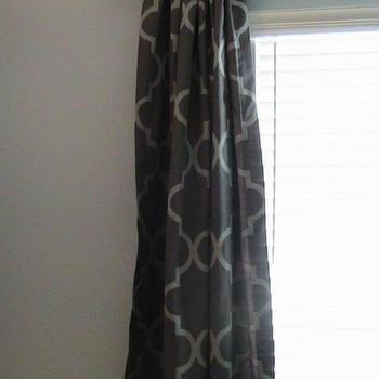 Window Treatments - Pair of Custom Decorative Designer Rod Top Drapery by nenavon - moorish tiles, drapes, window, panels