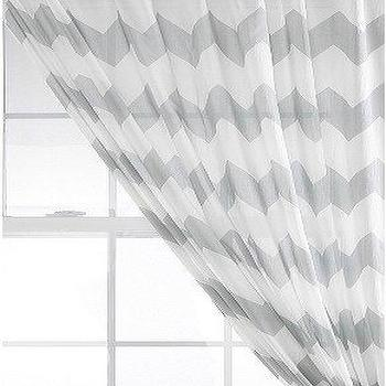 Window Treatments - UrbanOutfitters.com > Zig Zag Curtain - zig zag, sheer, curtains