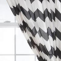 Window Treatments - UrbanOutfitters.com &gt; Zig Zag Curtain - white, black, zig zag, curtains