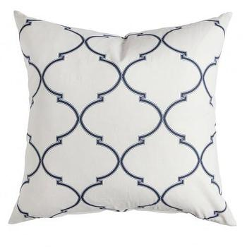Pillows - Caitlin Wilson Textiles: Navy Souk Trellis Pillow - navy, souk, trellis, pillow