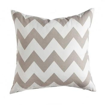 Pillows - Caitlin Wilson Textiles: Greige Zabeel Chevron Pillow - greige, zabeel, pillow