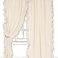 Window Treatments - Airy Flounce Curtain - Anthropologie.com - airy, flounce, curtains
