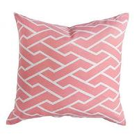 Pillows - Caitlin Wilson Textiles: Pink City Maze Pillow - pink, city maze, pillow