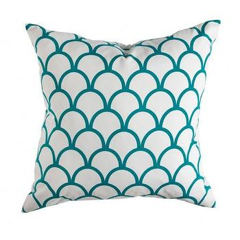 Caitlin Wilson Textiles: Peacock Scallop Pillow