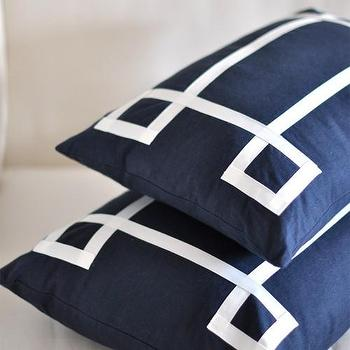 Pillows - Caitlin Wilson Textiles: Navy Signature Pillow - navy, signatur, pillow