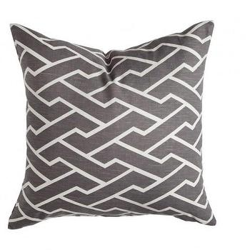Pillows - Caitlin Wilson Textiles: Charcoal City Maze Pillow - charcoal, maze, pillow