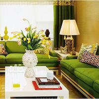Miscellaneous - Interesting living room layout - Interesting living room layout, green couches