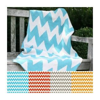 Bedding - Zhush || Zigzag Blanket - zigzag, chevron, turquoise, blue, blanket
