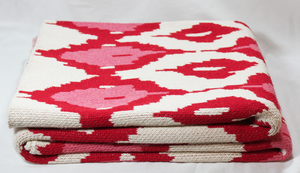 Ikat Throw, Pink
