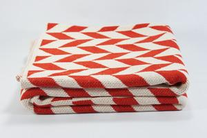 Bedding - Orange Chevron Throw - orange, chevron, throw