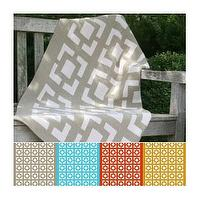 Bedding - Zhush || Lattice Blanket - gray, lattice, blanket