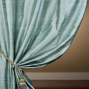 Custom Shoreline Textured Dupioni Silk Curtains & Drapes, Half Price Drapes