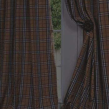 Window Treatments - Bogart Silk Taffeta Plaid Custom Curtains & Drapes - Half Price Drapes - burberry, style, curtains