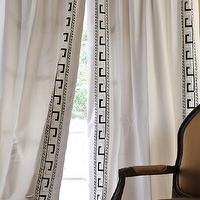 Window Treatments - Discounted Greco Oyster Italian Embroidered Cotton Silk Curtains & Drapes - Half Price Drapes - Greek key, silk, window panels, curtains