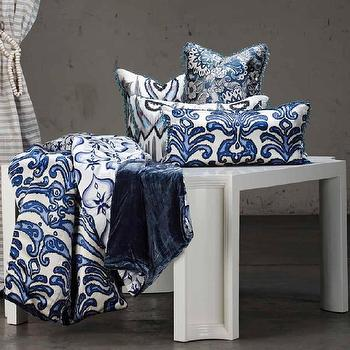 Bedding - shine home ikat cobalt blue bedding velvet silk as - ikat, bedding