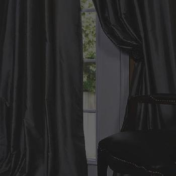 Platinum Faux Solid Taffeta Silk Curtains & Drapes, Discount Window Valances, Half Price Drapes