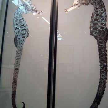 Art/Wall Decor - rumana seahorse art silverleaf natural curiosities - rumano, seahorse, art