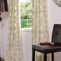 Window Treatments - Dunster Printed Cotton Curtains & Drapes - fioretta sprout, fabric, drapes, curtains